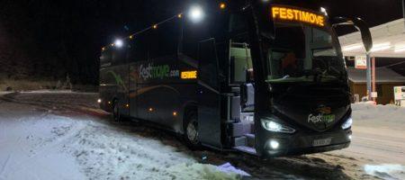autocar pour les sports hiver